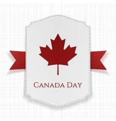 Canada day national label with ribbon vector