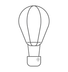 Air balloon transport hot gas travel thin line vector
