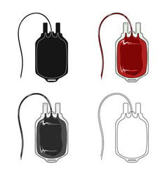 bag of bloodmedicine single icon in cartoon style vector image