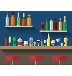 Bar counter flat vector
