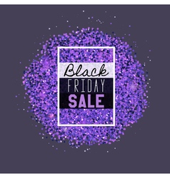 Big black friday sale purple glitter vector