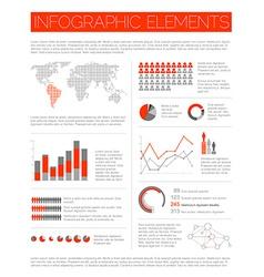Big set of Infographic elements vector image