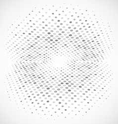 Blue Halftone Circle Design vector image