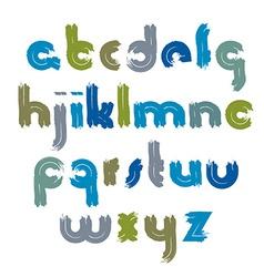 bright acrylic font handwritten watercolor vector image vector image