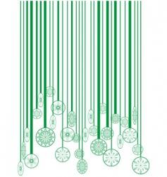 Christmas green barcode vector image vector image