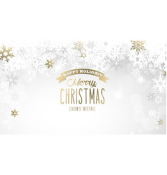 christmas light background with white and golden vector image vector image