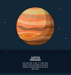 Colorful poster with planet jupiter vector