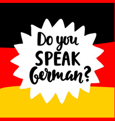 Do you speak german vector