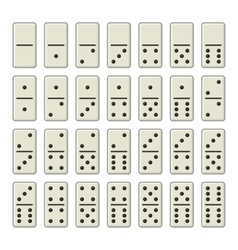 Domino Bones Complete Set on White Background vector image