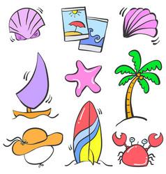 Doodle summer element art vector