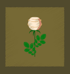 Flat shading style plant rosa vector