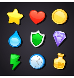 Game art design icons vector