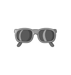 Glasses icon black monochrome style vector image vector image