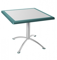 metal table vector image vector image