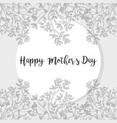 Mother day symbol with plants vector