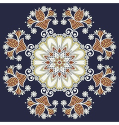 ornamental geometric doily pattern vector image vector image