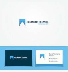 Plumb service logo set with water drop vector