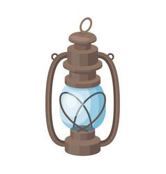 Portable kerosene lampafrican safari single icon vector