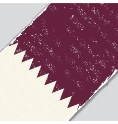 Qatari grunge flag vector