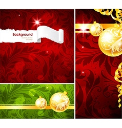 Red christmas background set vector