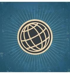 Retro globe vector