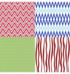 Set colorful vintage patterns vector image vector image