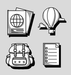 set vacation travel and adventure destination vector image