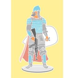 Strong warrior vector