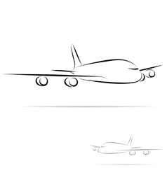 stylized plane vector image vector image