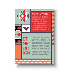 tribal ethic colorful brochure flyer vector image vector image