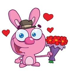 Valentines bunny cartoon vector image