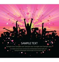 valentines flyer vector image vector image