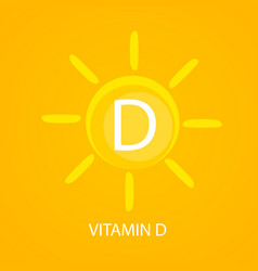 Vitamin d icon with sun vector