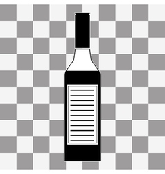 Vodka bottle icon vector image