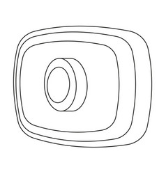 webcam icon in outline style isolated on white vector image vector image