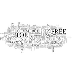 What s toll free numbers got to do with ecommerce vector