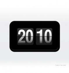 Flip clock with 2010 year vector