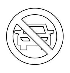 Dont parking traffic sign vector