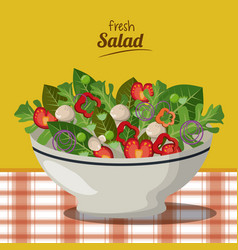 Fresh salad nutrition diet vegetarian image vector