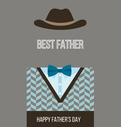Happy fathers day best dad card vector