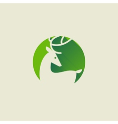 Deer elegant flat icon with long shadow vector