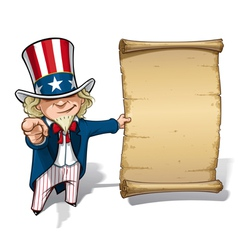 Uncle sam i want you declaration vector