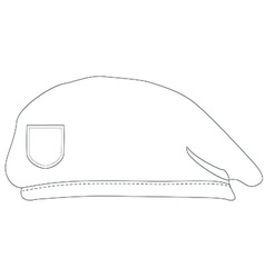 Armay beret outline drawings vector