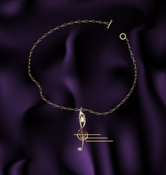 Bracelet treble clef vector