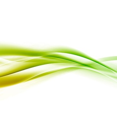 Bright green speed swoosh line abstract modern vector image