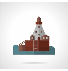 Sea pier flat icon vector