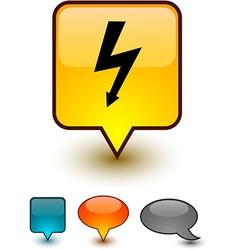 Warning speech comic icons vector