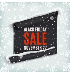 Black friday sale paper banner vector
