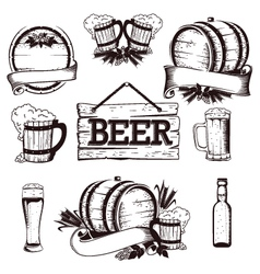 Beer set 1 vector