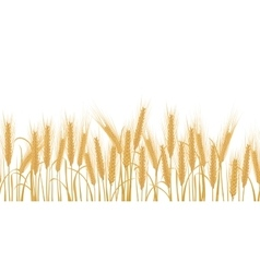 Ears of wheat horizontal border seamless pattern vector